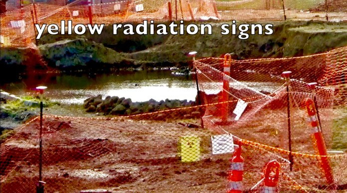 Treasure-Island-'potholes'-dug-in-toxic-dump-'extension'-near-Northpoint-Drive-homes-by-Carol-Harvey, Navy removes an estimated 163+ new radiation deposits from two toxic dumps and dangerously radioactive soil from under occupied Treasure Island home, Local News & Views
