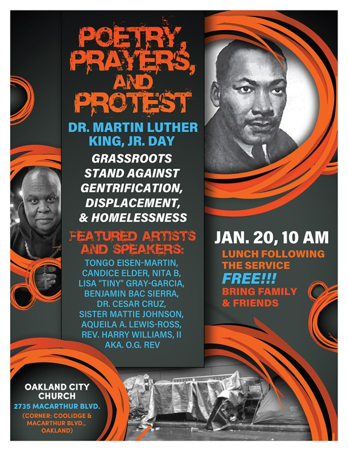 Poetry, prayers, protest against gentrification and displacement planned for MLK Day