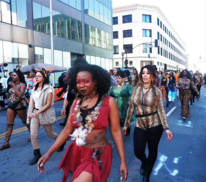 Hundreds-Womens-Group-march-in-Black-Joy-Parade-in-Oakland-021720-by-Jahahara, All aboard … for Reparations!, Local News & Views