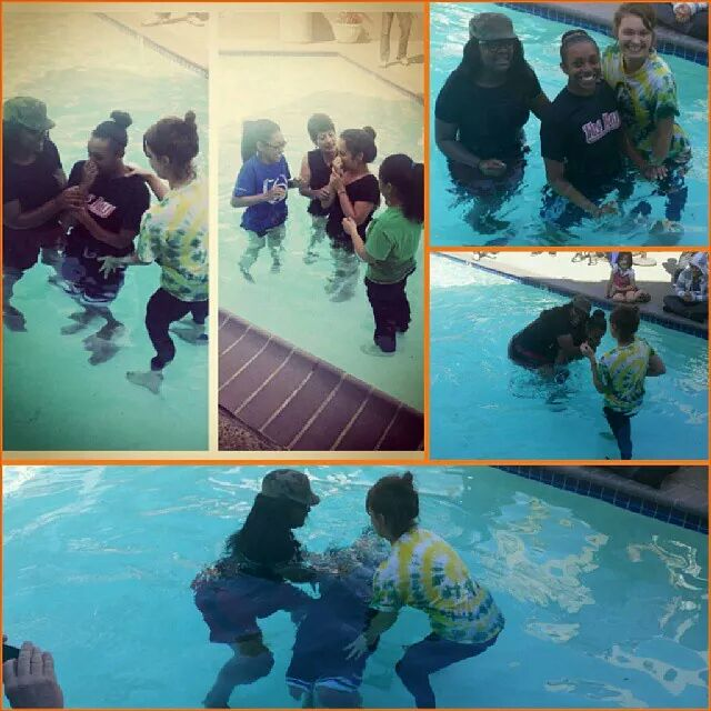 Spiritual twins, Gabrielle and Cindy are baptized into Christ!