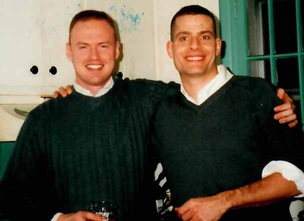 Tim Kernan and Ghilsain Normand became best friends in 2001!