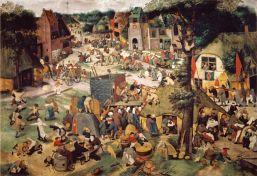 banden_de pisser 2_28a_pieter brueghel de jongere_rond 1637_kermis met theater en processie