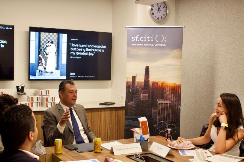Alex Padilla joined sf.citi and our members at Uber