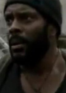 Tyreese hunting zombies in the Walking Dead.