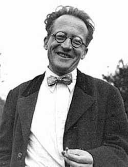 Schrödinger was welcoming Oppenheimer.