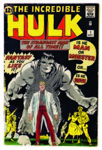 Copyright: © MARVEL/Courtesy TASCHEN THE INCREDIBLE HULK No. 1. Cover detail; pencils, Jack Kirby; inks, attributed Jack Kirby. September 1962.