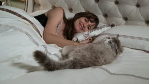 """Time to take a needed cat nap as Garner's Lara snuggles with Spacey's Mr. Fuzzypants in the """"cat""""-astrophic kiddie comedy NINE LIVES"""