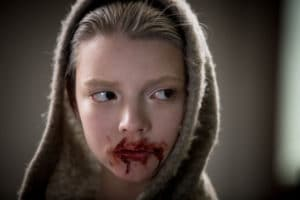 Has Taylor-Joy's Morgan snacked on a human organ? Only her telling bloody lips knows the truth in Luke Scott's synthetic sci-fi horror showcase