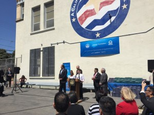 Salesforce upped its commitment to public education, announcing an investment of 10,000 hours and $6 million in San Francisco's public schools. It made the announcement at Presidio Middle School on Monday.