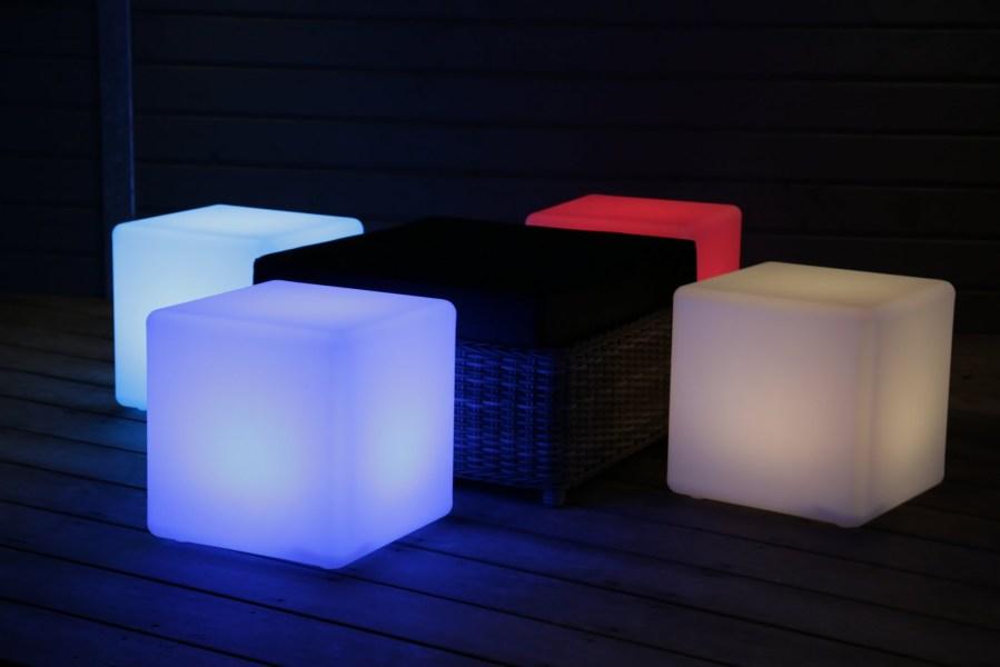 LED kubussen in verschillende kleuren