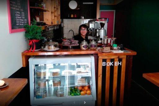 Bokeh cafetería, emprendimiento