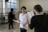 Emma rehearsing for Titus