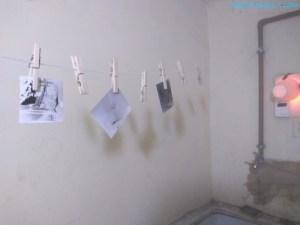 Fotos secando após revelação