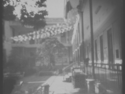 Fotografia PinHole do Pátio Interno do Campus Centro do Colégio Pedro II