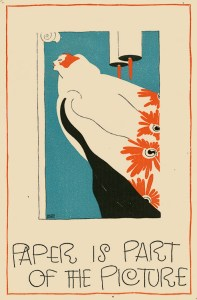 Illustration by Helen Dryden Strathmore campaign slogan, 1922