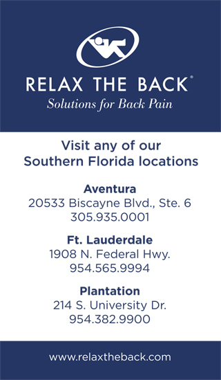League Sponsor - Relax the Back