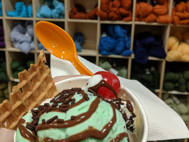 2019 - Free Ice Cream Day in the Tiffany building