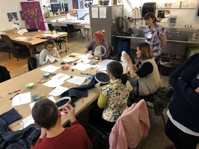 2018 - Creativity Explored workshop (Mae and students)