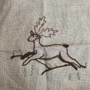 Introduction to Embroidery: Stag, by Victoria