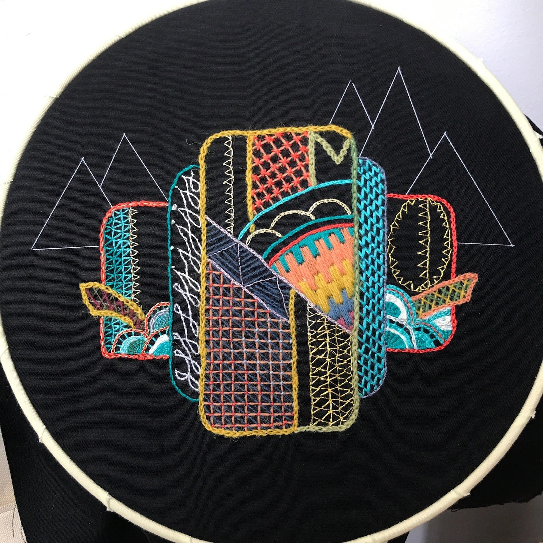 Intro to Embroidery: Geometric, by Minjeng, CA