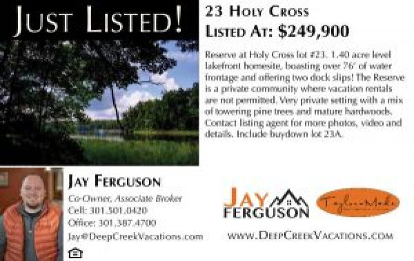 Holy Cross Lot for Sale - Deep Creek Lake