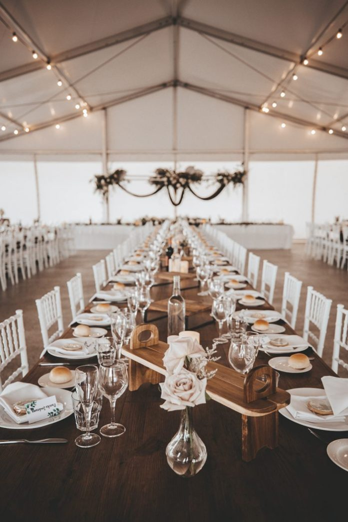 Wedding details and table at Vineyard Wedding Reception in Australia's Swan Valley wine region