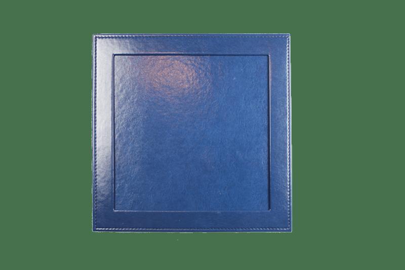 Passepartout-PU-Leder-blau-Frontansicht
