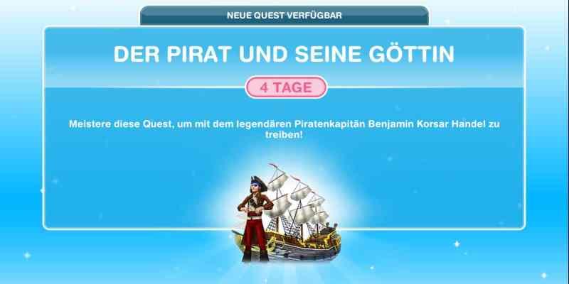 Questankündigung Der Pirat und seine Göttin