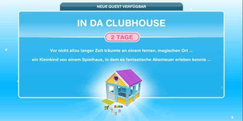 "Questankündigung ""In Da Clubhouse"""