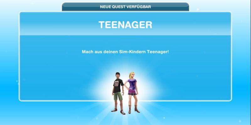 Questankündigung Teenager