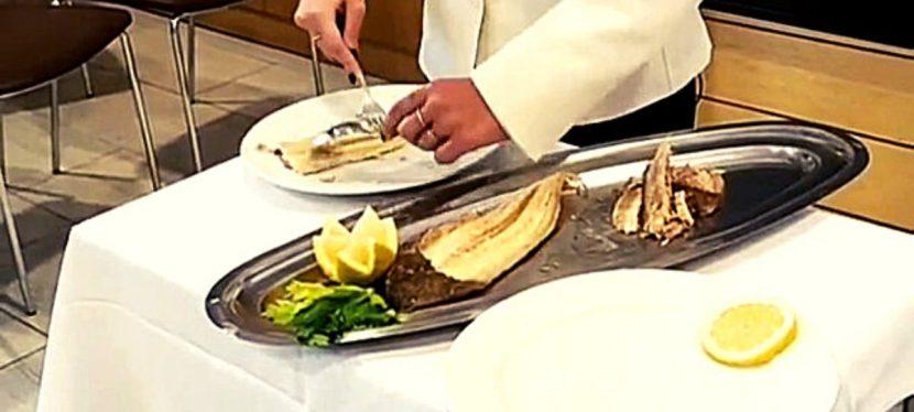 Filettatura del pesce al guéridon
