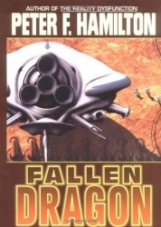 Fallen Dragon, by Peter F. Hamilton book cover