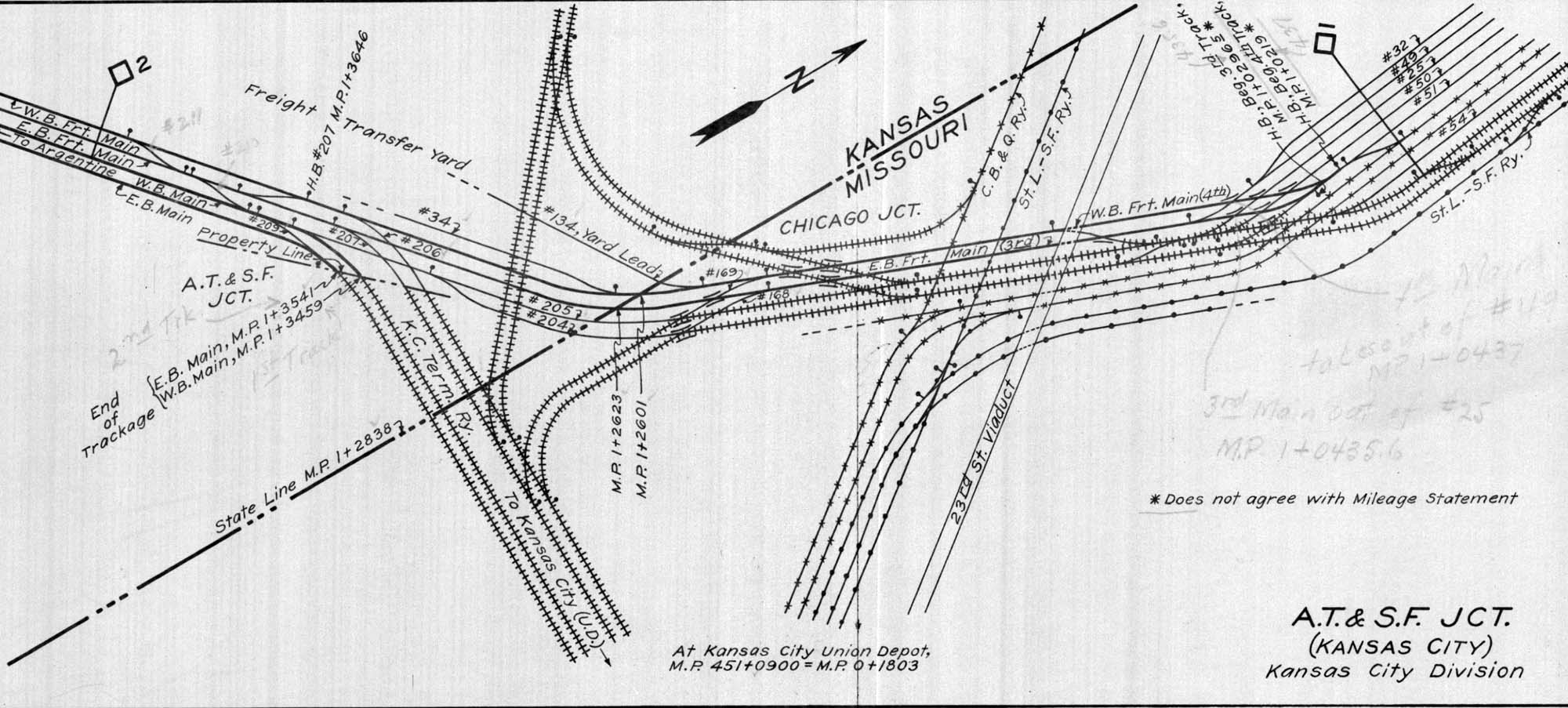 Archived Maps And Charts The Santa Fe Railway Historical