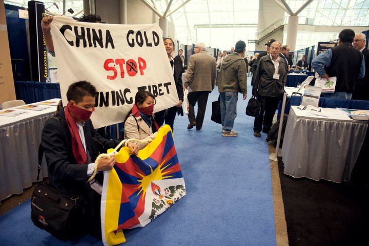 China Gold mining protest acction