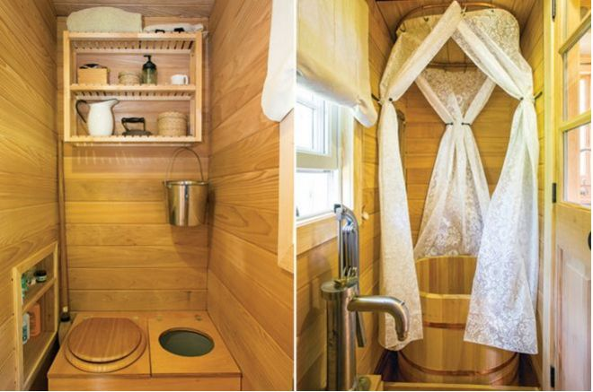 tiny house with bathroom and kitchen