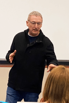 John in class 201x300 - Peabody Award-Winning Faculty Member Shares His Best Advice from 30+ Year Career