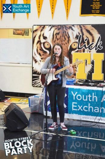 A musical guest from Lick-Wilmerding High School