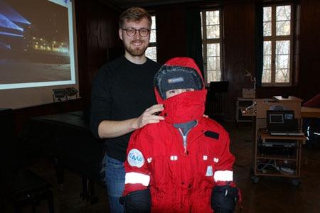 Jan-Marcus Nasse berichtete über die Antarktis
