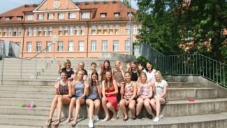 21.06.2017: Ein herzliches Willkommen mit den Freundinnen aus dem Muhoksen Lukio Gymnasium in Muhos, Finnland