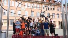 03.07.2017: Die Gäste aus der North Penn High School, Lansdale, PA, USA, freuen sich auf eine ereignisreiche Woche in Aalen