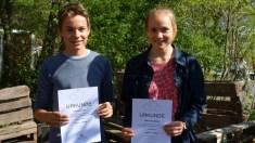 """19.04.2018: """"Auf nach Berlin"""" — Florian und Marianna Bopp, die 1. Preisträger im Landeswettbewerb Mathematik"""