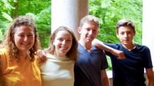 25.06.2018: Susanna Walter (PPP-Stipendiatin), Matthew Cohen (North Penn High), und Miguel Cabrero Escobar (Deutsche Schule in Kolumbien) mit ihrer Betreuerin Andrea Ariman (2. v.l.)