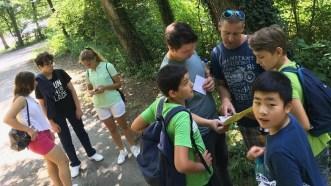 """17.-19.07.2018: Die Schatzsucher des Projekts """"Geocaching"""" auf der Suche nach dem Dösle"""