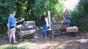 """17.-19.07.2018: Bunt, fröhlich, kreativ — Teilnehmer des Projekts """"Kuddelmuddel — Leben mit und in der Natur"""""""