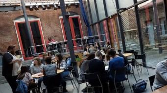 12.10.2018: Im Café JAM in Ulm des Jugendwerk und CVJM