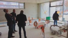 14.12.2018: Architekt Liebel im Gespräch mit Oberbürgermeister Rentschler im neuen Chemiesaal