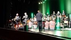 15.03.2019: Die SG Big Band macht ihr Choreo zum Solo von David Henze (Barisax) und Aeneas Ellenrieder (Trompete)