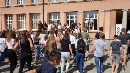 10.07.2019: Tanzstunde mit den Abiturienten beim Abifez