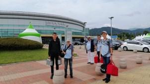 "25.09.2019: Ankunft mit den ""Drone Balls"" in Seoul"