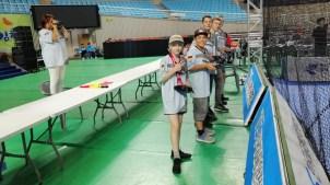 28.09.2019: Die Wettkämpfer am Start in Gyeongsangbuk